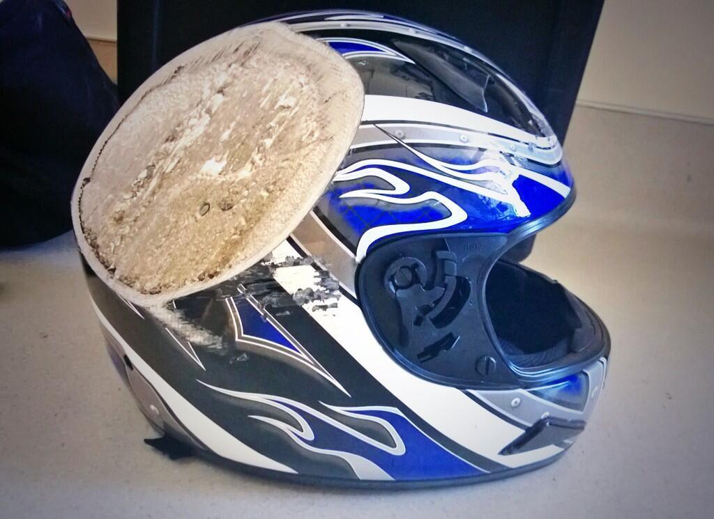 事故ヘルメット