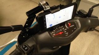 バイク(スクーター)にスマホフォルダーを取り付けてみた感想【車載動画撮影】